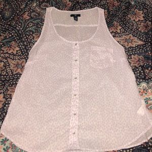 Sheer top gap lavender and white